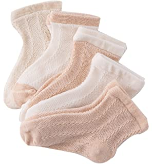 GZMM Newborn Baby Organic Cotton Socks 5 Pairs Pack For 0-24months Infant Toddler