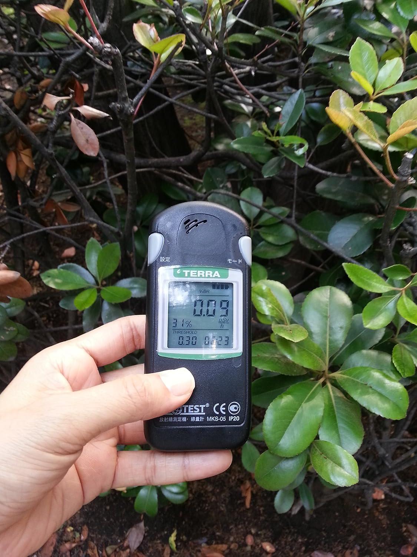 周囲の放射線量の測定も簡単に!