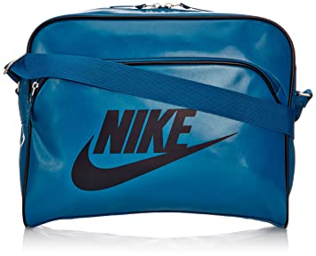 7352b4a5c083 Nike Men s Heritag Si Track Hand Shoulder Bags - Green Abyss Dark Obsidian