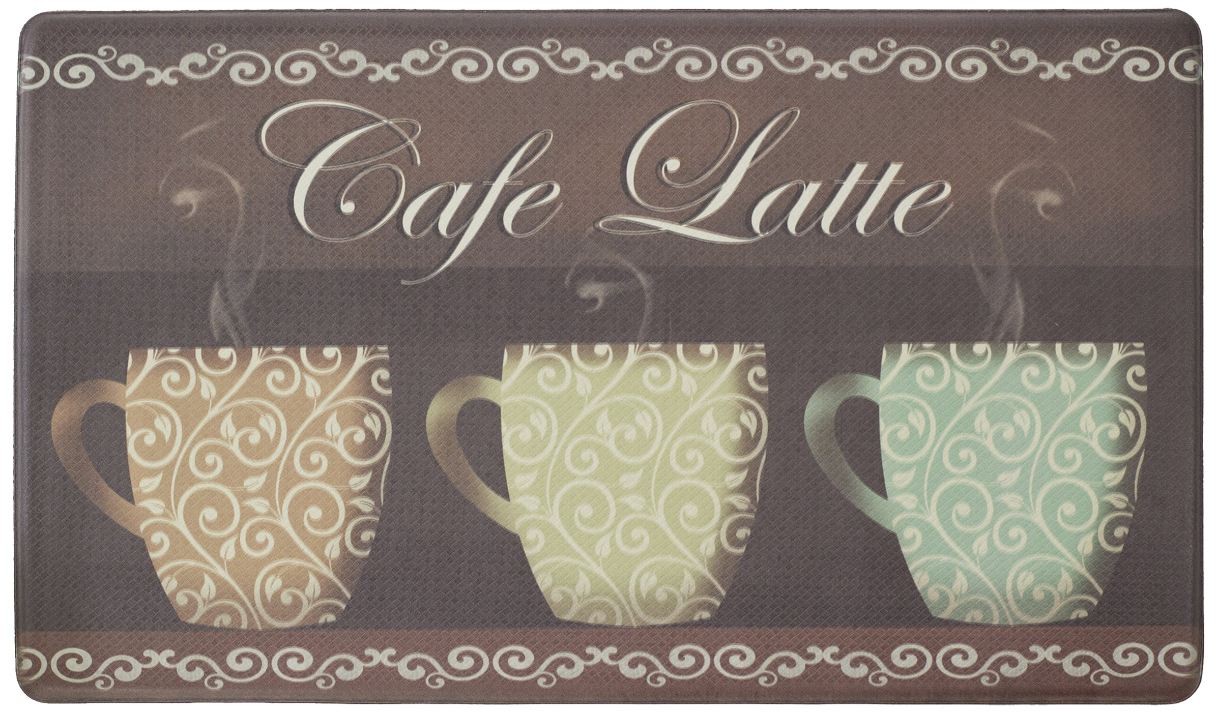 Chef Gear Cafe Latte Anti-Fatigue Comfort Memory Foam 18 x 30'' Kitchen Chef Mat by Chef Gear (Image #1)