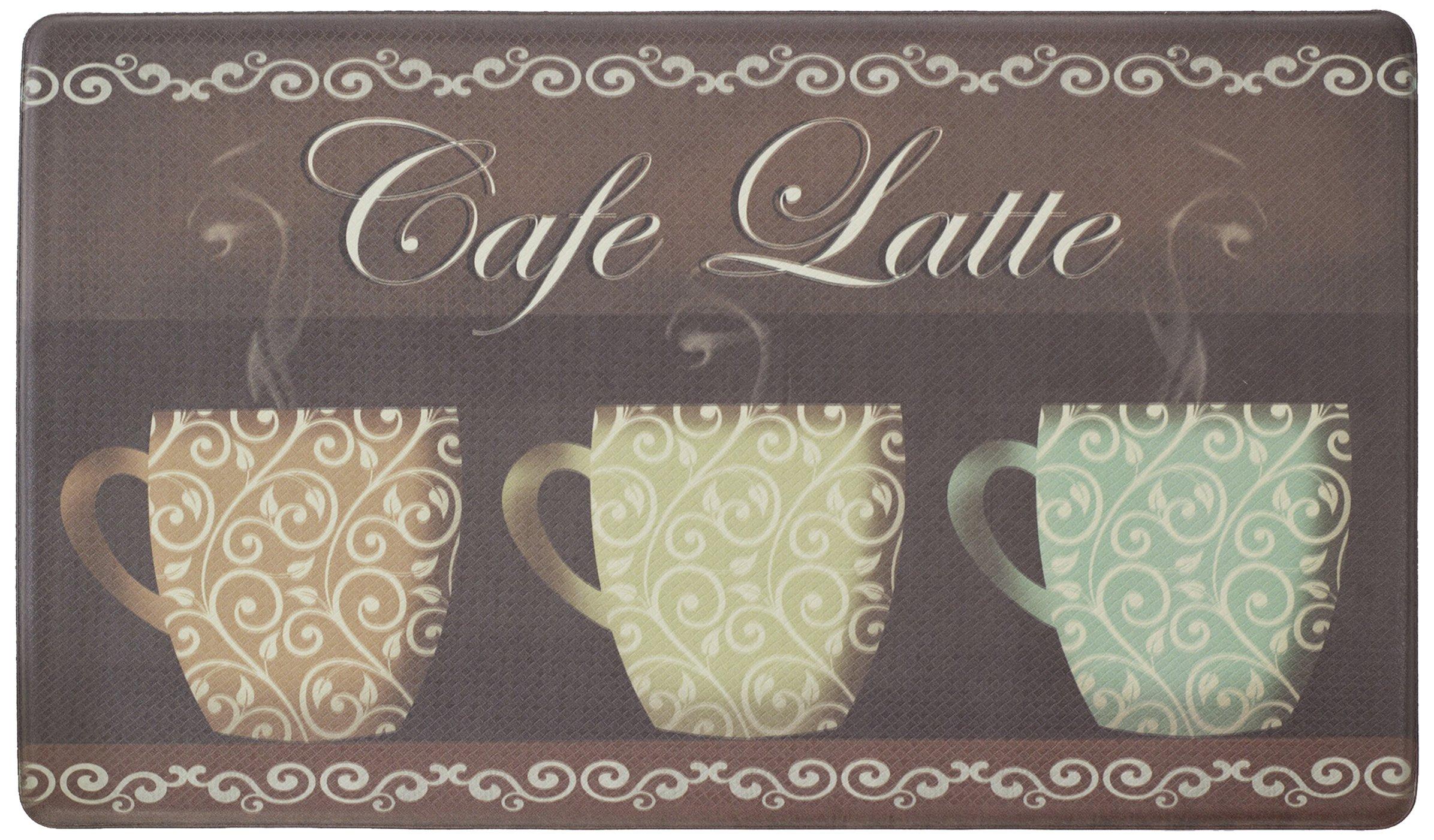 Chef Gear Cafe Latte Anti-Fatigue Comfort Memory Foam 18 x 30'' Kitchen Chef Mat