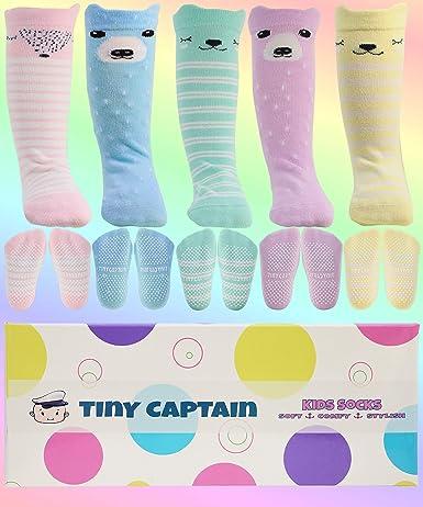 DEBAIJIA 3 Pairs Baby Thick Coton Anti-slip Long Socks