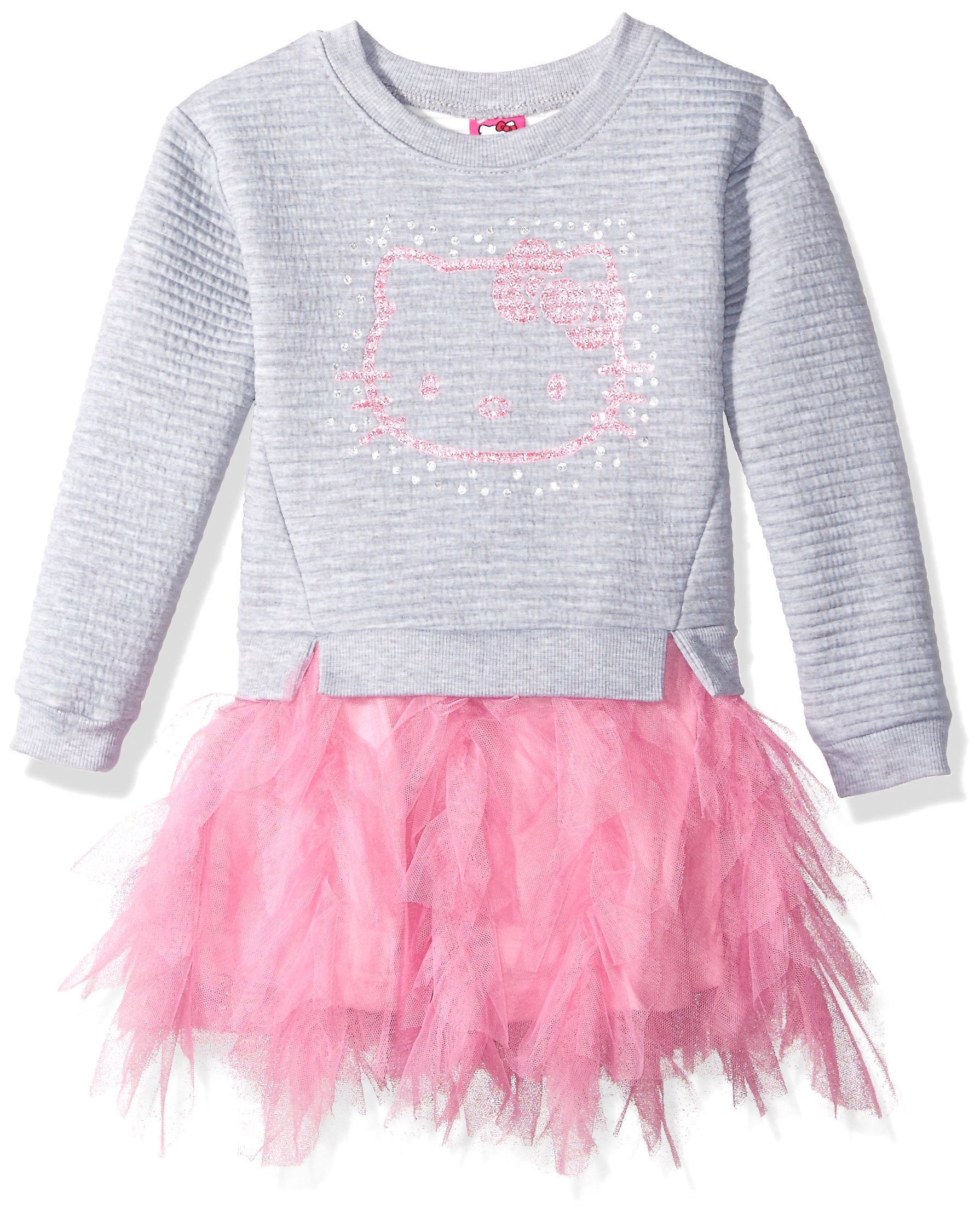Hello Kitty Little Girls' Embellished Tutu Dress, Gray, 6