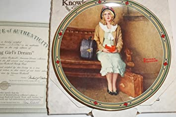 Bradford Exchange Knowles A Young Girls Dream by Norman Rockwell from Rockwells American Dream CP449
