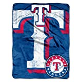"Officially Licensed MLB Texas Rangers ""Triple Play"" Micro Raschel Throw Blanket, 46"" x 60"", Multi Color"