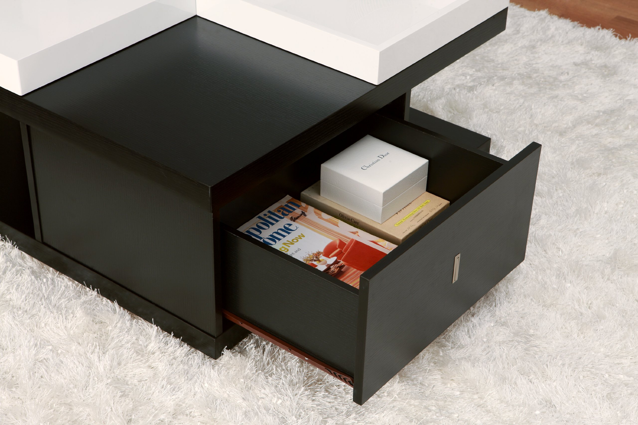 Smart coffee table w large drawers serving tray square shape product details smart solutions coffee table geotapseo Choice Image
