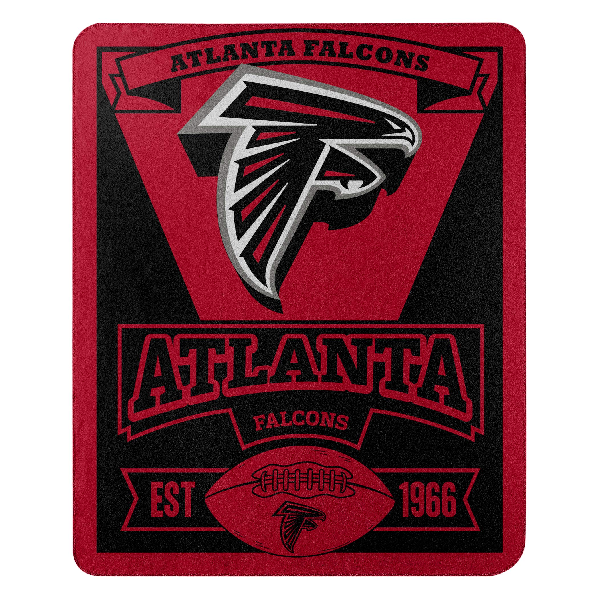 The Northwest Company Officially Licensed NFL Atlanta Falcons Marque Printed Fleece Throw Blanket, 50'' x 60'', Multi Color by The Northwest Company