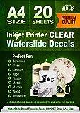 Premium Waterslide Decal Paper Inkjet CLEAR - 20