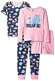 Gerber Girls' 4-Piece Pajama Set, Dream Big, 5T