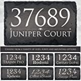 """Beautifully Handcrafted and Customizable Slate Home Address Plaque (16""""x10"""", 18""""x8"""", 12""""x8""""or 12""""x6"""") Improve the curb…"""