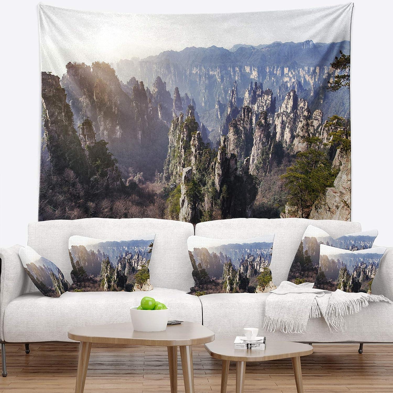 39 x 32 Designart TAP14862-39-32  Zhangjiajie National Forest Park Landscape Blanket D/écor Art for Home and Office Wall Tapestry Medium