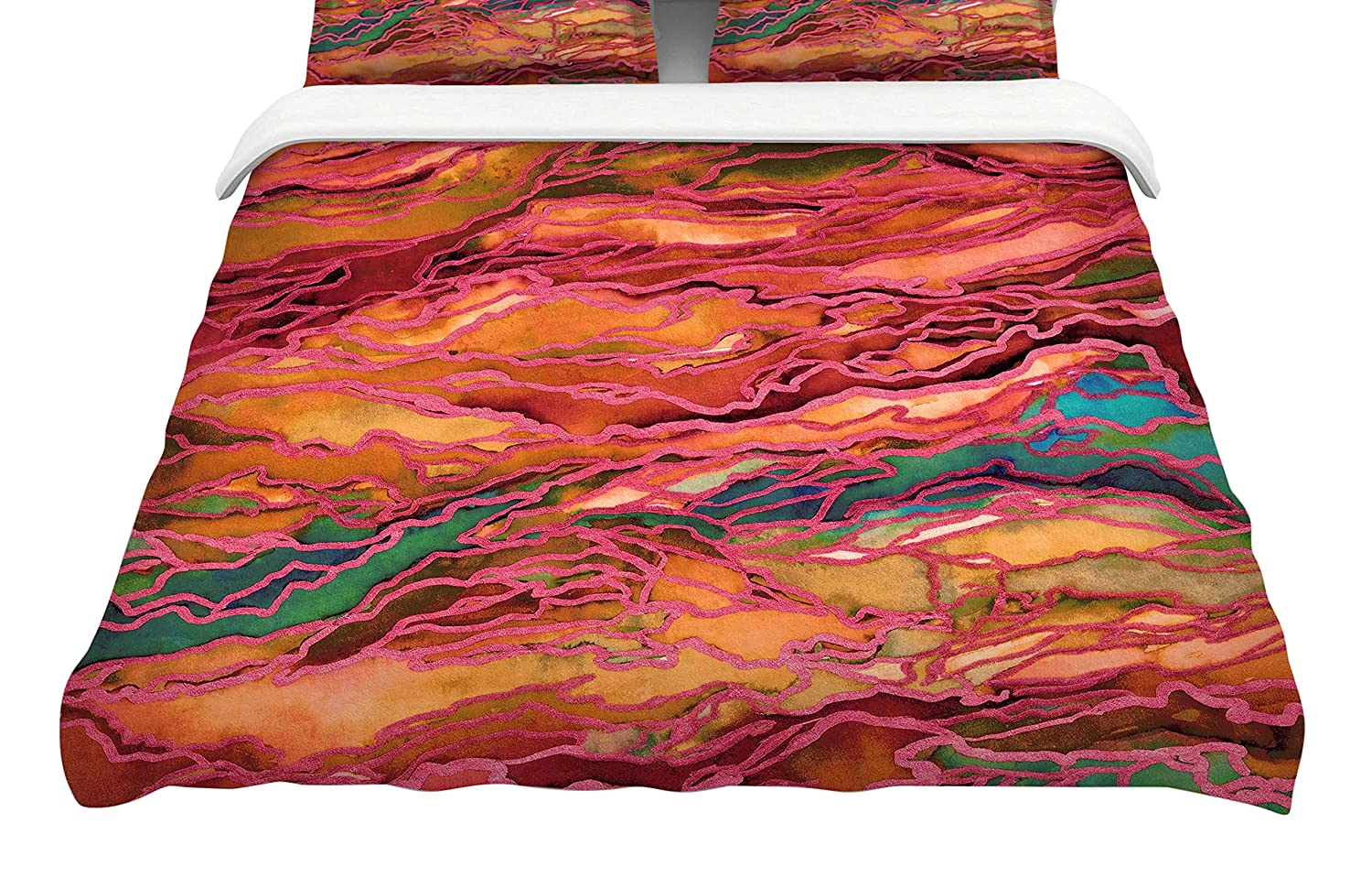 Kess InHouse Jeff Ferst View from The Foothills King Cotton Duvet Cover 104 x 88,