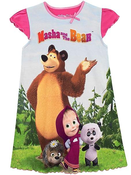 Masha and the Bear Camisón para Niñas Masha y el Oso: Amazon.es: Ropa y accesorios
