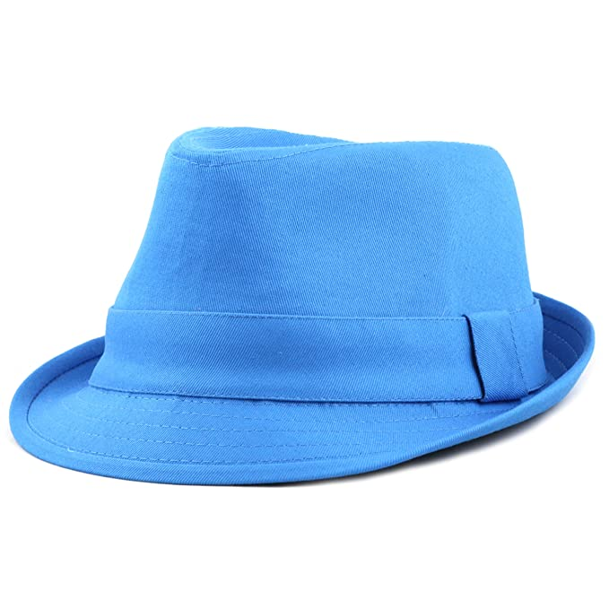 THE HAT DEPOT 1400f2093 100% Cotton Paisley Lining Premium Quality Fedora  Hat (Turquoise) 04a034a97f9