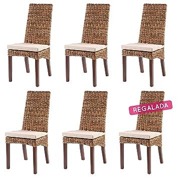 Rotin Design Rebajas : -43% Lote 6 sillas de Ratan Lavezzi ...