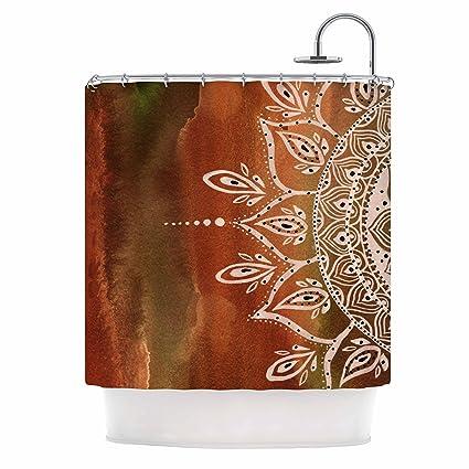 Amazon KESS InHouse Li Zamperini Autumn Mandala Orange Brown