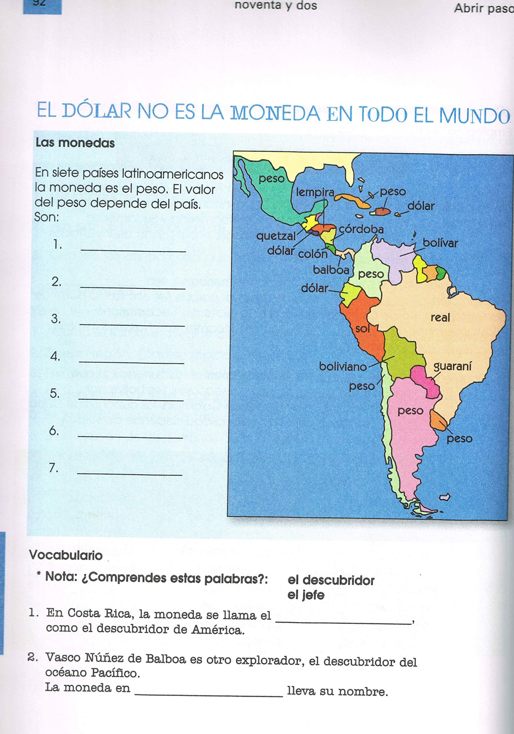 Abrir paso Libro 1 El mundo hispano - Unidades culturales interdisciplinarias: Eva Neisser Echenberg: 9782923851181: Amazon.com: Books
