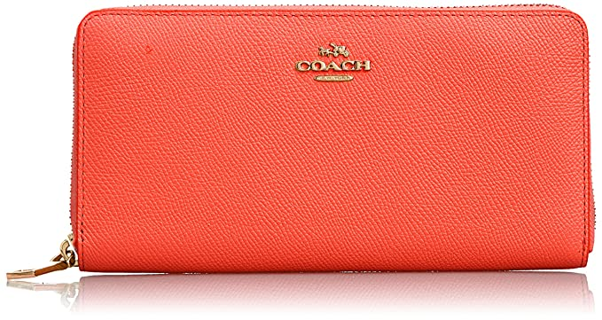 COACH-Cartera, diseño de mujer, cierre con cremallera, monedero, bolsillo trasero,-Female rojo: Amazon.es: Ropa y accesorios