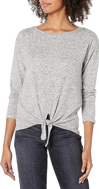 BB Dakota Womens Weslan Tie Front Knit Top