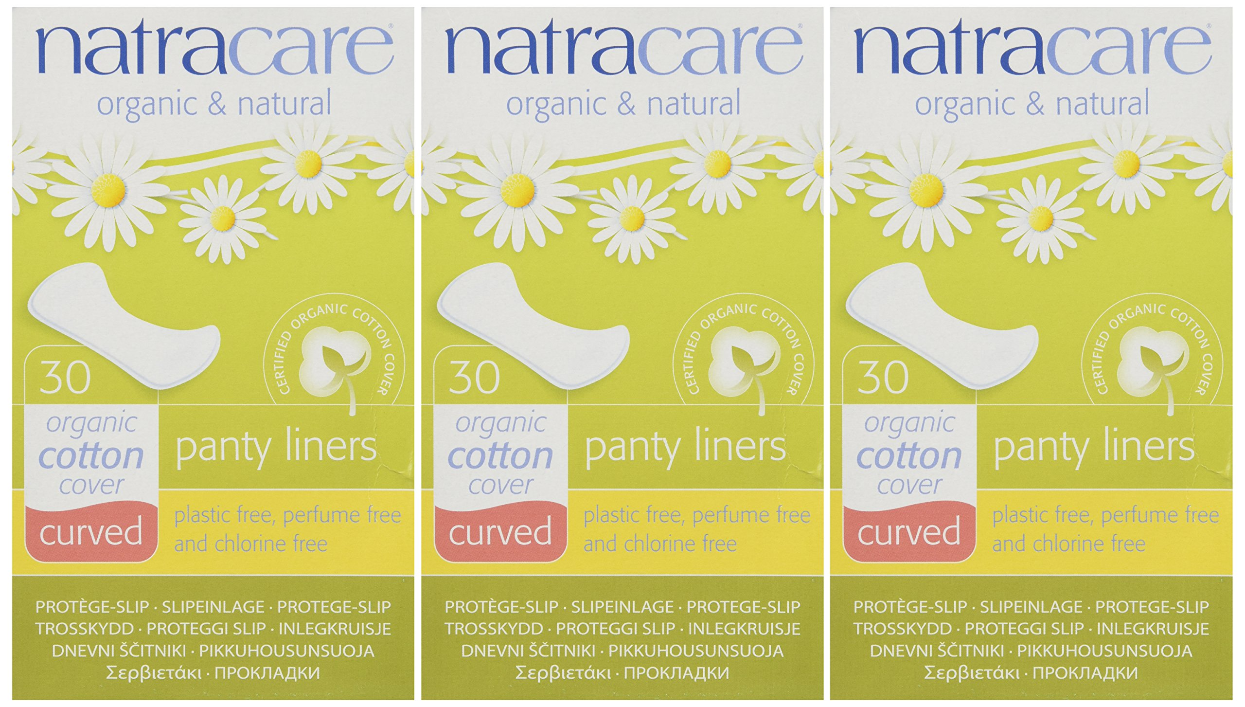 Panty Liners Curved 30ct - Panty Liner ( Pack of 3)