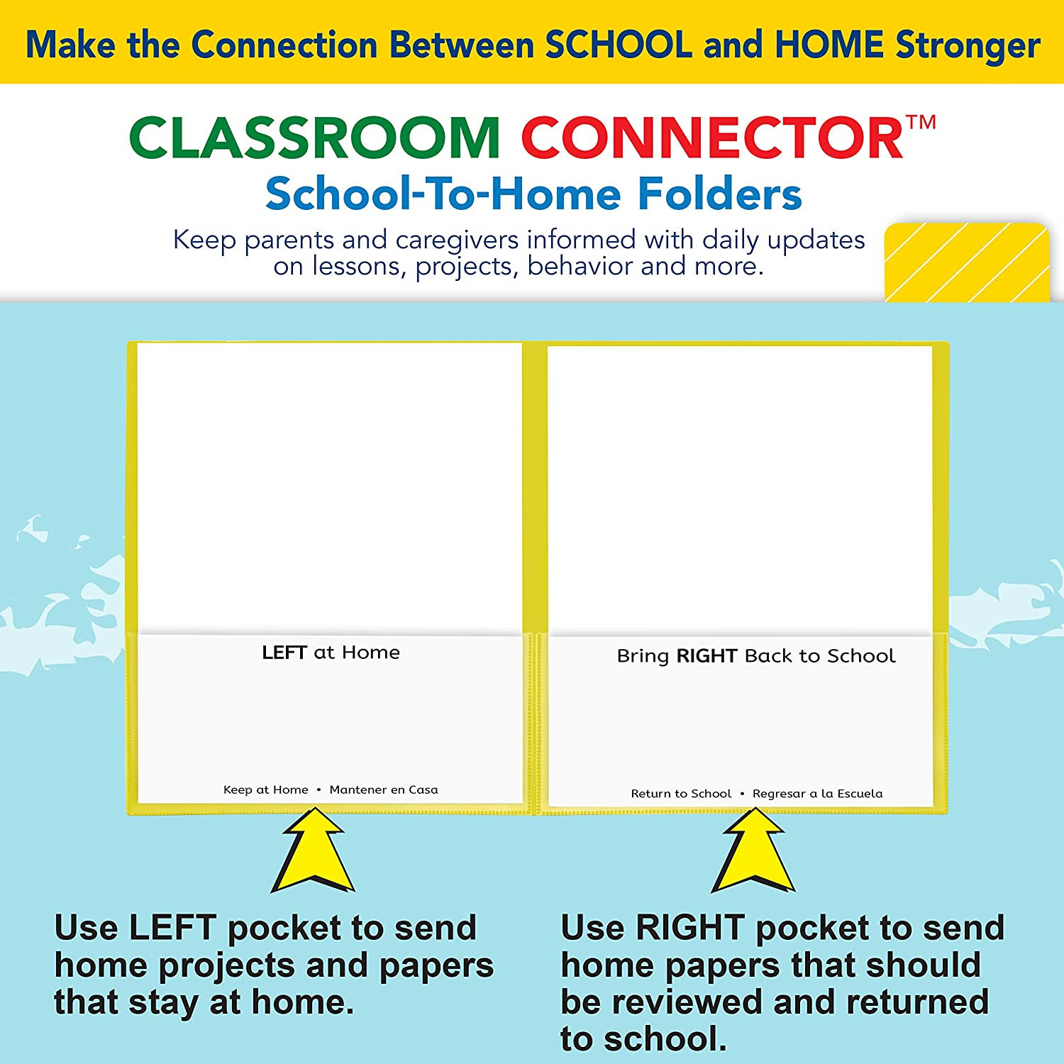Surprising C Line Classroom Connector School To Home Folders Yellow 25 Per Box 32006 Home Interior And Landscaping Ymoonbapapsignezvosmurscom