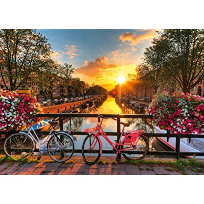 Ravensburger Bicycles in Amsterdam 1000 Piece Jigsaw Puzzle for Adults – Every Piece is Unique, Softclick Technology Means Pieces Fit Together Perfectly: Toys & Games