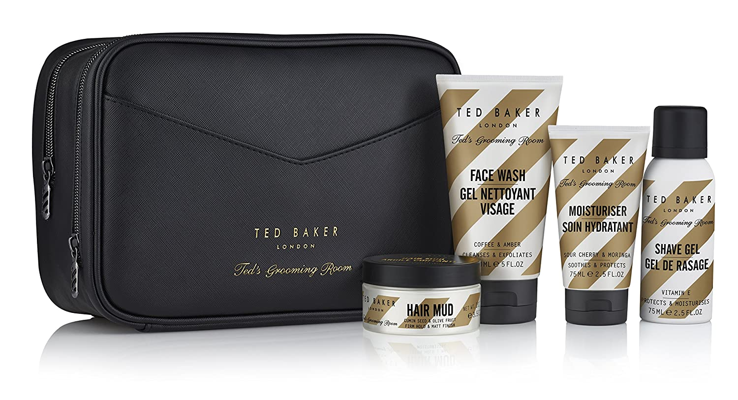 Ted Baker Ted's Grooming Room The Full Ted Regime Gift Set and Wash Bag TGRGF4287