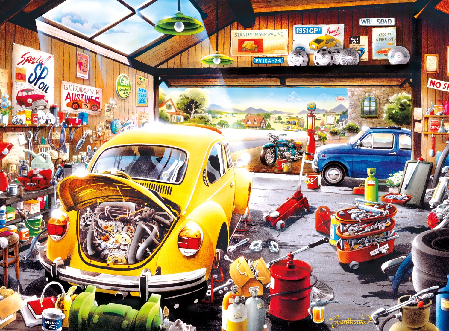 Buffalo Games Sam's Garage by Hiro Tanikawa Jigsaw Puzzle (1000 Piece) by Buffalo Games