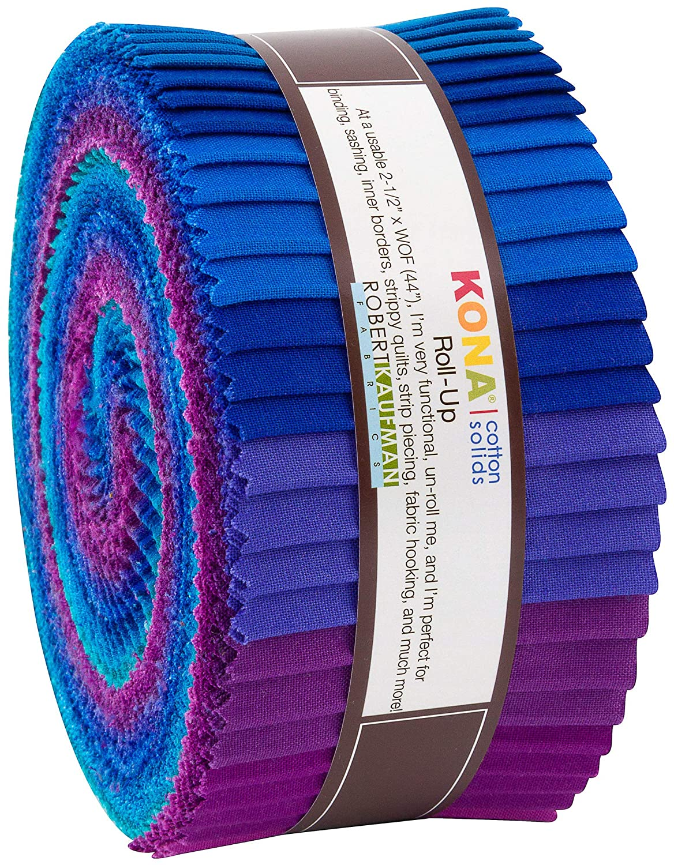 Robert Kaufman Kona Cotton Solids Peacock Roll Up 2.5