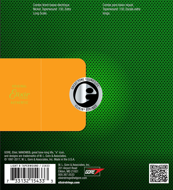 45-135 Elixir Bass Nanoweb Nickelwound 14207 Light//Medium