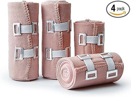 Amazon Com Premium Elastic Bandage Wrap Compression Rolls Set Of