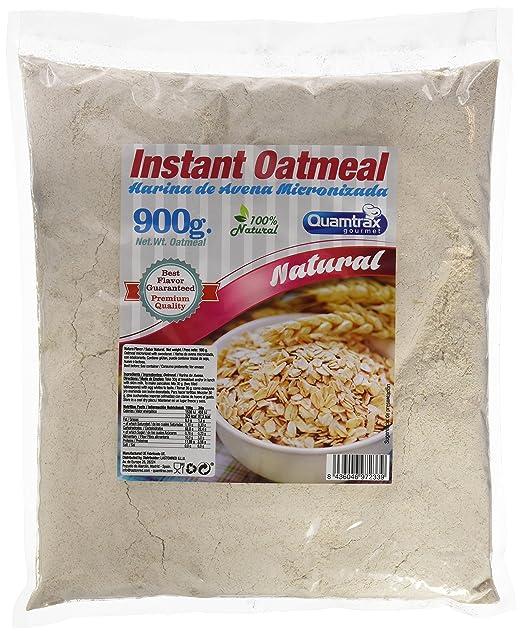 Quamtrax oats meal, harina de avena sin sabor, 900gr