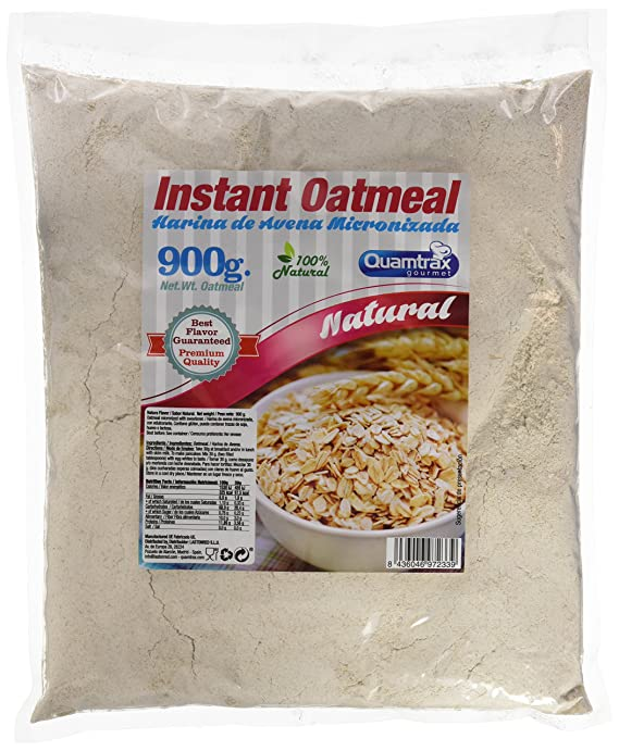 Quamtrax oats meal, harina de avena sin sabor, 900gr: Amazon.es: Alimentación y bebidas