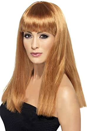 Womens Blonde Glamourama Wig Female Fancy Dress Party Accessory