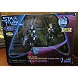 """Star Trek Twin-Pack Alien Series - 5"""" Borg Drone Action Figure and 5"""" Captain Jean-Luc Picard As Locutus of Borg Action Figure - As Seen in Star Trek: The Next Generation From the Episode """"The Best of Both Worlds"""" - Target Exclusive"""