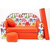 Canapé enfant multifunction sofa lit 2en1 (160x98cm) (3)