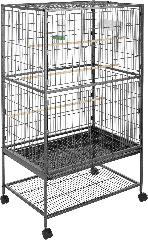 TecTake 800449 Jaula para Pájaros, Pajarera XXL con Ruedas, para Aves Canarios Periquitos - Varios Modelos (sin Techo | No. 402287)