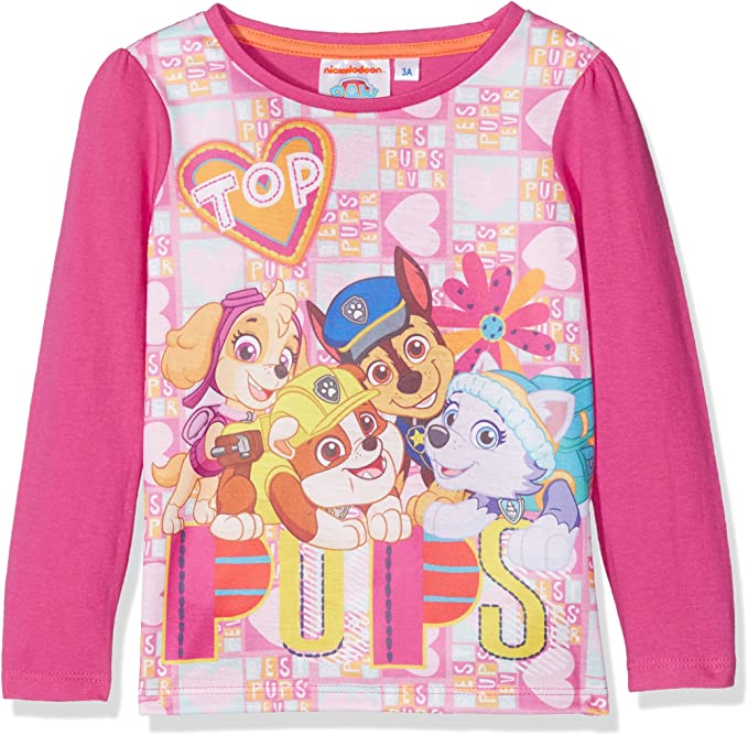 Paw Patrol Long Sleevet Shirt T-Shirt Girl 3Y-6Y Pink