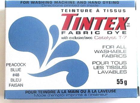 Tintex - Tinte de tela azul pavo real #48