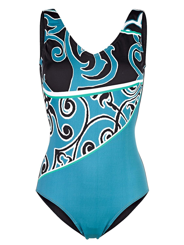 Damen Badeanzug mit grafischem Druck 42 by Maritim