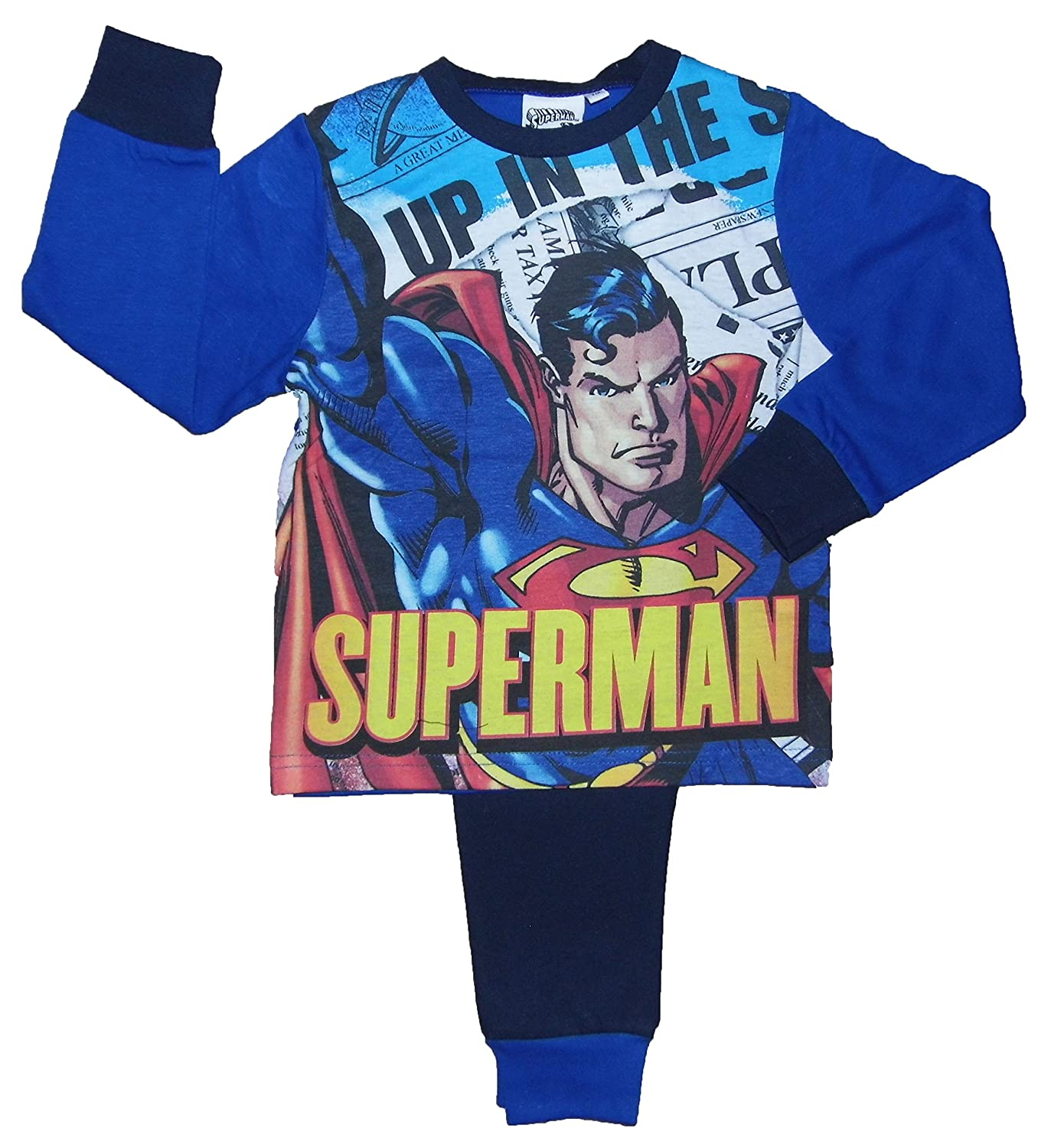 Boys Super Hero Pyjamas 3 Styles Choose From Batman Superman or Avengers