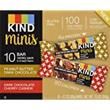 Kind Bar Mini Peanut Butter Dark Chocolate/ DARK CHOCOLATE CHERRY RASPBERRY 20G (PACK OF 10)