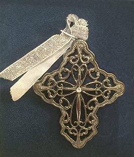 product image for Gunmetal Filigree Cross Swarovski Crystal Keepsake Ornament Decoration