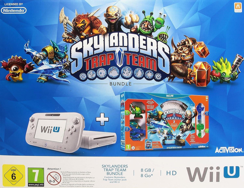 Nintendo Wii U Basic Pack + Skylanders Trap Team Blanco 8 GB Wifi - Videoconsolas (Wii U, Blanco, 2048 MB, DDR3, IBM PowerPC, AMD Radeon): Amazon.es: Videojuegos