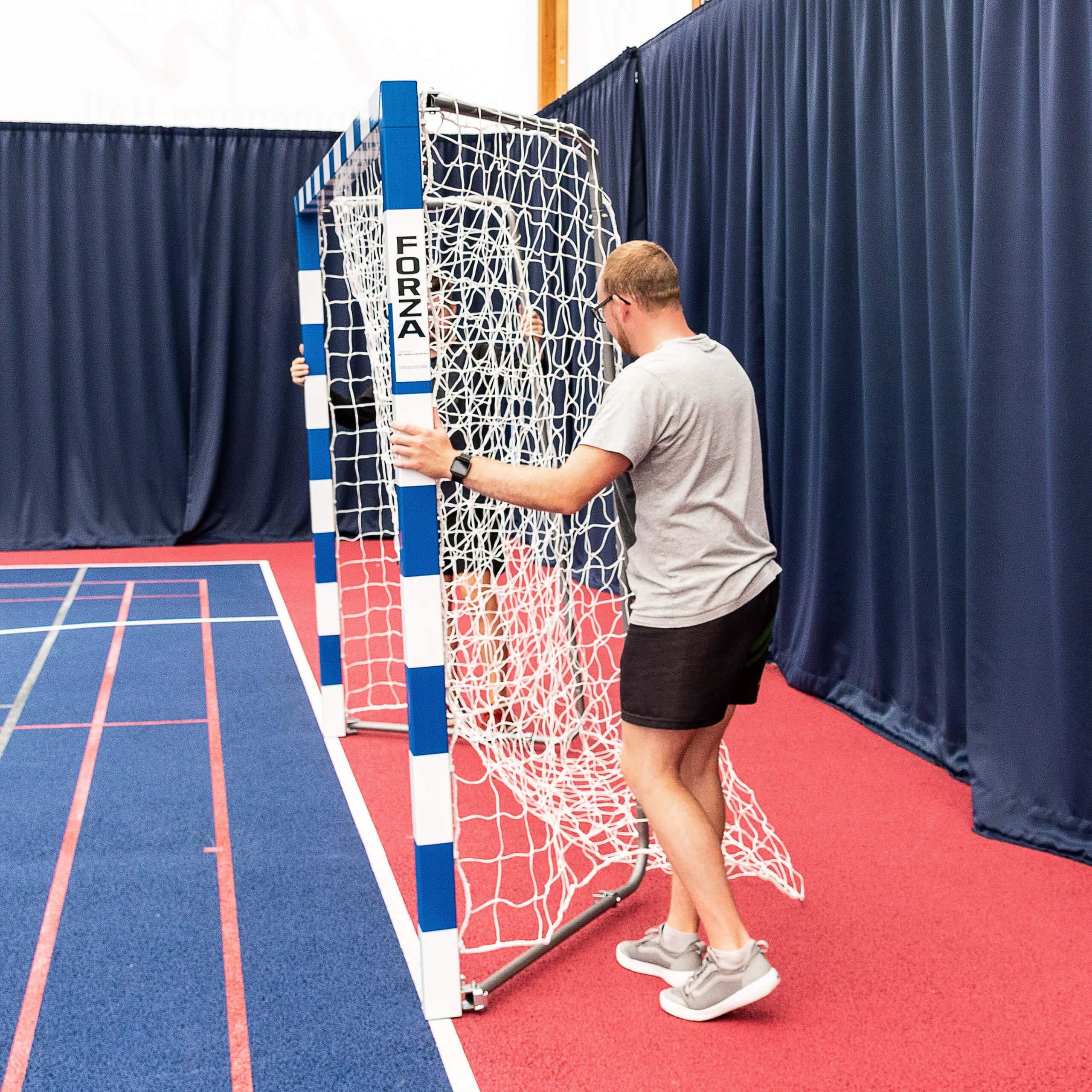 Forza Alu80 Competition Handball Goals   IHF Regulation Size 3m x 2m Handball Goal [Net World Sports] (Pair, Blue) by Forza (Image #5)