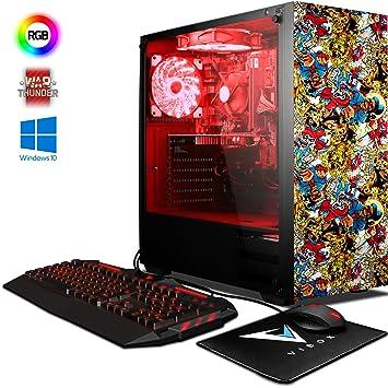 VIBOX Pyro GL950T-74 Gaming PC Ordenador de sobremesa con War Thunder Cupón de Juego, Windows 10 OS (4,2GHz AMD FX 8-Core Procesador, Nvidia GeForce ...