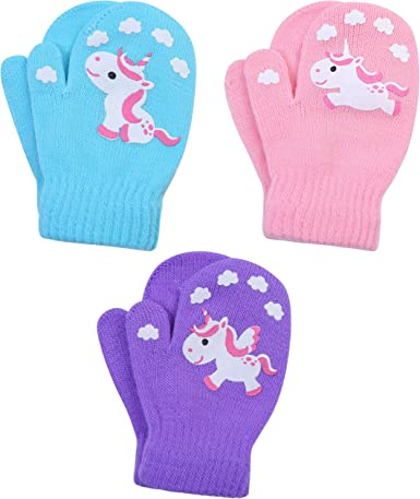 CHILDREN/'S HAND KNITTED MITTENS ACRYLIC WOOL PALE PINK 2-4 YEARS NEW