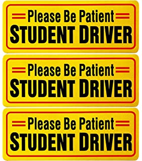 graphic about Student Driver Sign Printable called : Scholar Driver Magnetic Automobile Indicator: Automotive