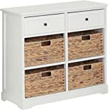 Premier Housewares Vermont Cabinet with 2 Drawer and 4 Baskets - Ivory/Cream