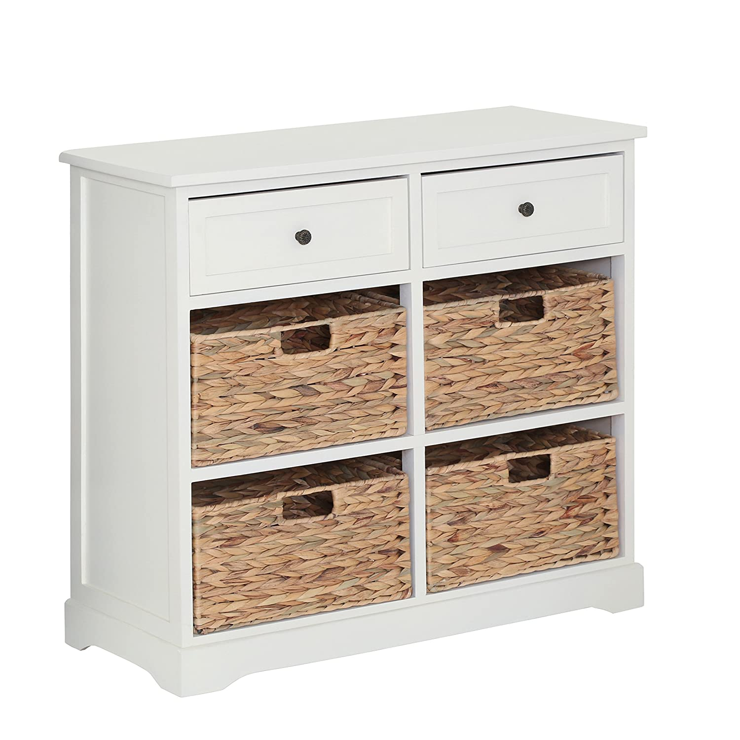 Premier Housewares Vermont 1 Drawer and 2 Baskets Cabinet - Ivory 2404026